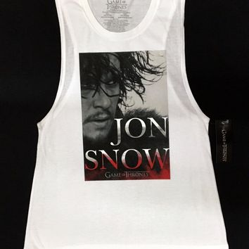 Game Of Thrones JON SNOW Junior Muscle Tank Top T-Shirt NWT Licensed & Authentic