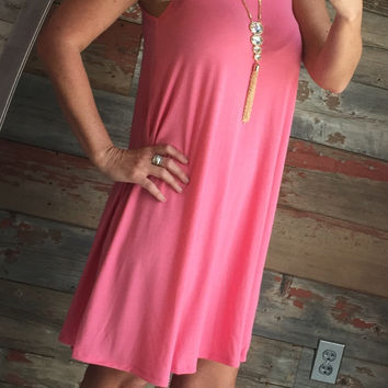 Summer Vibes Dress: Coral
