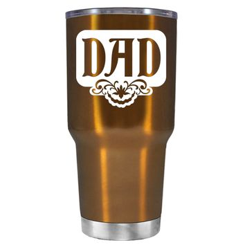 Dad Plaque on Translucent Copper 30 oz Father's Day Tumbler Cup