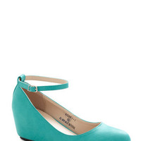 Take a Stride With Me Wedge in Teal | Mod Retro Vintage Wedges | ModCloth.com