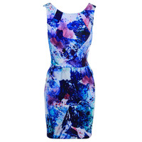 Amanda Uprichard Womens Printed Sheath Party Dress
