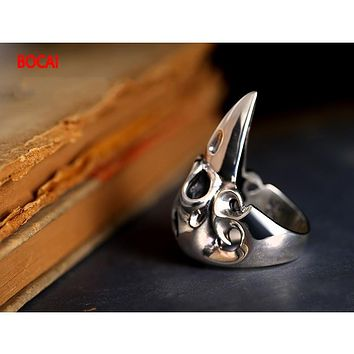 Men's 925 Sterling Silver Genuine Oriental Vibrations Dragon Ring