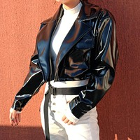 Patent Leather Crop Jacket