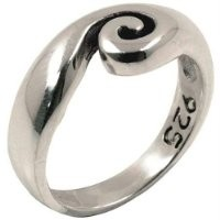 Swirl Wave - Sterling Silver Ring