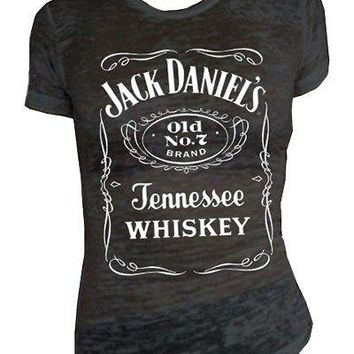 Jack Daniels Women's Daniel's Burnout Short Sleeve Tee
