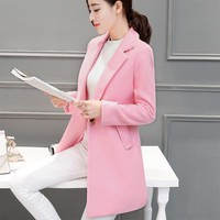 Autumn Winter Long Jacket Coat Women Wool Coat Raincoat Outerwear Windbreaker Trench Coats