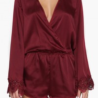Satin Lace Romper