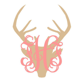 Best Deer Car Decal Products On Wanelo - Cute monogram car decals