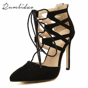 2017 Fashion Women Sandals High Heels Women Pumps Cut-outs Peep Toe Lace Wedding Shoes Woman Sandalias Zapatos Mujer