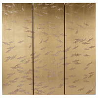 School of Fish Gold 3 Piece Wall Panel | Wall Decor | Accessories | Z Gallerie
