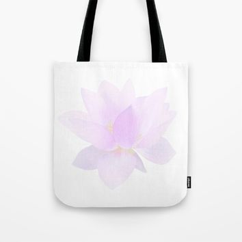 Morning Dew on the Petals Tote Bag by Lena Photo Art
