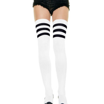 Striped Athletic Thigh Highs