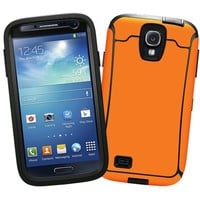 """Orange """"Protective Decal Skin"""" for OtterBox Defender Samsung Galaxy S4 Case"""