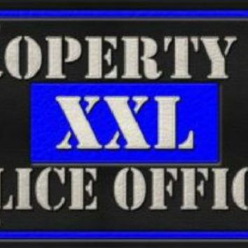 Property of Police Officer XXL  Thin Blue Line
