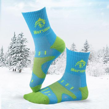 Marsnow Winter Ski Socks Cotton Keep Warm Men Women Children Cycling Socks Cotton Soft Breathable Running Hiking Outdoor Socks