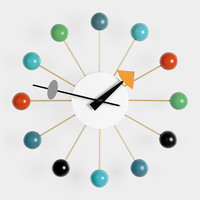 Nelson Wall Clock, Multicolor Ball