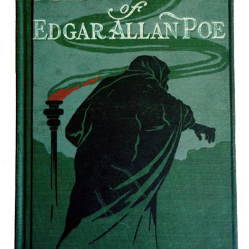Mystery Tales of EDGaR ALLAN POE antique vintage book 1907 A L Burt Co J Watson Davis