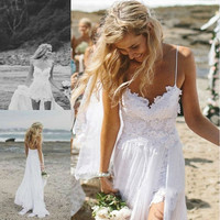 Printed Loose Strapless Chiffon Lace Wedding Dress = 1932680580