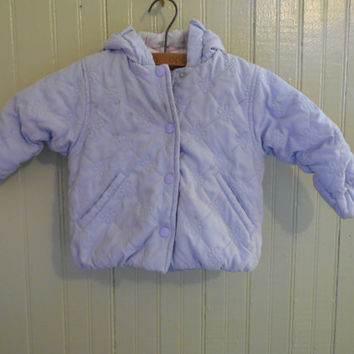 FREE SHIPPING - Baby Jacket/Children's Jacket/London Fog Baby Jacket/Size 6-9 months Jacket/Purple Jacket/Vintage Children's Clothing