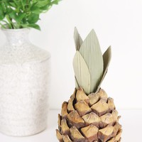 """Artificial Pineapple Fruit Decoration - 7"""" Tall"""