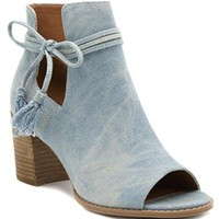 Tasseled Ankle Boot Peep Toe Bootie