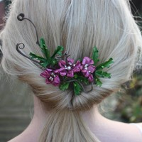 Tangled Leather Bridal Comb