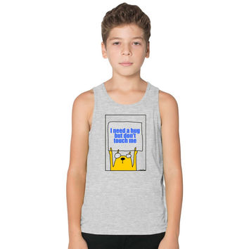 I Need A Hug But Don't Touch Me Kids Tank Top