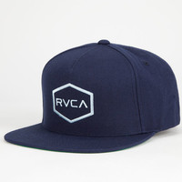 Rvca Commonwealth Mens Snapback Hat Navy One Size For Men 25475021001