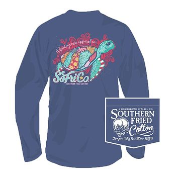 Follow the Current Long Sleeve Tee in Summer Shadow by Southern Fried Cotton