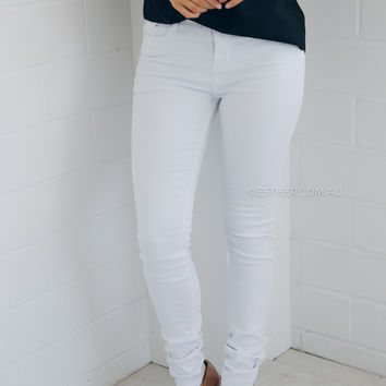 carly jeans - white