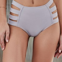 LA Hearts Strappy Side High Waisted Bikini Bottom - Womens Swimwear -