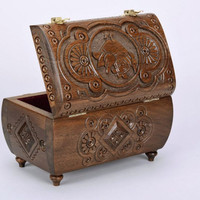 Exclusive handmade beautiful wooden jewelry box for adornment unusual gift ideas