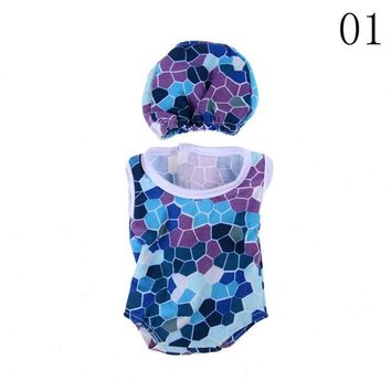 Swimming Pool beach 1set colorful flowers hat swimming dress suit for 18 inch American girl dolls fit baby dollsSwimming Pool beach KO_14_1