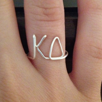 #Sorority #Wire #Ring #Kappa #Delta #KD #Greek #Letters #Fraternity