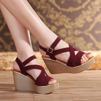Open Toe Shoes Woman Gladiator Sandals Wedges Shoes