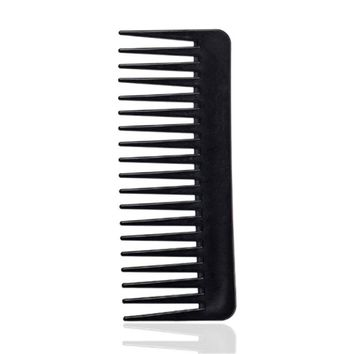 Teeth Hairdressing Comb 19 Teeth Black High Quality ABS Plastic Heat-resistant Large Wide Tooth Comb Detangling Wide