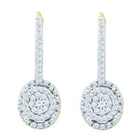 Diamond Fashion Earrings in 10k Gold 0.5 ctw