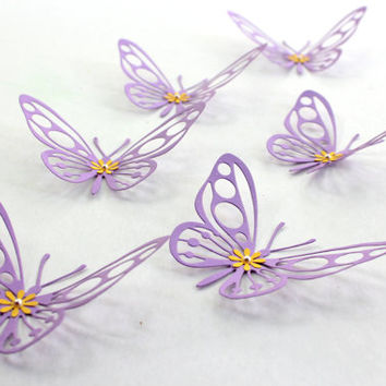 Purple Butterflies,3d butterflies,butterfly decor,wall butterflies,home decor,nursery decors,housewares,butterflies,paper butterflies