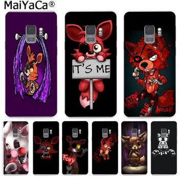 MaiYaCa Cute Foxy  at freddy Hot Phone Case Fashion for Samsung S9 S9 plus S5 S6 S6edge S6plus S7 S7edge S8 S8plus