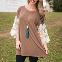 Still Believe Tunic, Mocha