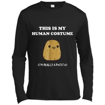 Funny Potato  | Xmas Gift This Is My Human Costume Long Sleeve Moisture Absorbing Shirt