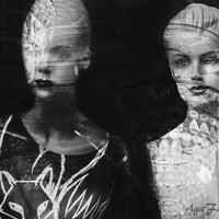 Surreal Photography, Fashion Art, Black and White Photography, Conceptual Woman Art, Mannequin Art, Large Wall Art - Watching Windows
