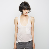 Ribbed Pocket Tank by Raquel Allegra