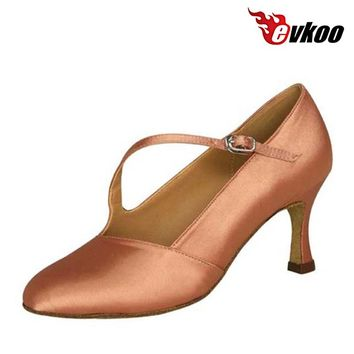 ... 7da9a 6f1e9 Evkoodance Closed Toe Salsa Shoes 4 Colors Black White Tan  Khaki quite nice ... 5d845e08efc5