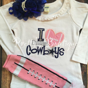 Dallas Cowboys Baby Girl Outfit 3-Pieces Sizes Newborn to 14 Years