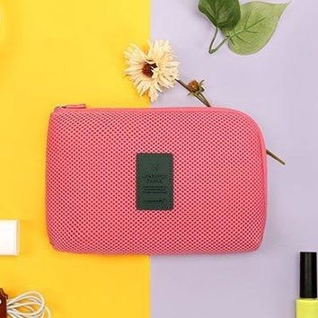 Travel pouch finishing Digital Storage bag Digital data line of cosmetics pouch