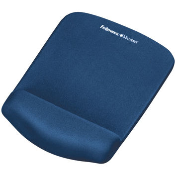 Fellowes Plush Touch Mouse Pad With Wristrest (blue)