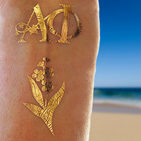 Sorority Tattoos, Sorority Gifts, Alpha Phi Sorority, Gold Jewelry Alpha Phi