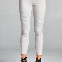 Pleated detail moto staccato buelah jeggings