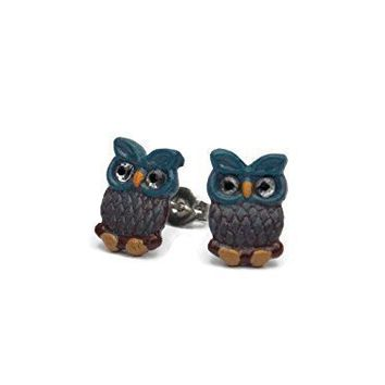 Tiny Stud Owl Earrings